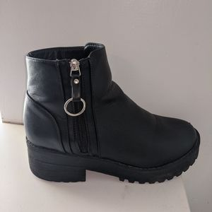 Black Chunky Combat Boots